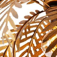Vintage ceiling lamp gold 45 cm - Botanica