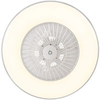 Ceiling fan white with star effect dimmable - Climo