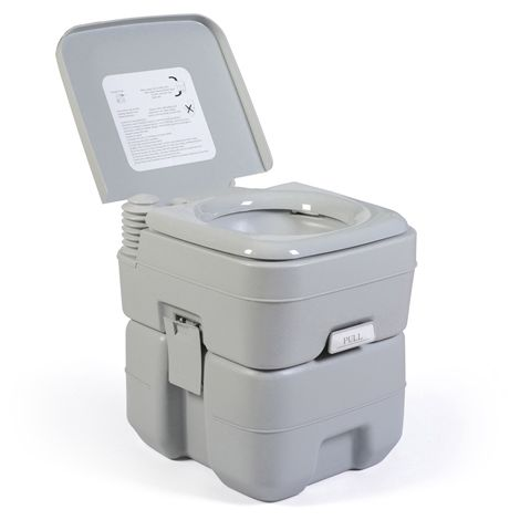 BIRCHTREE 20L Portable Toilet PT01 Grey