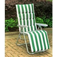 BIRCHTREE Sun Recliner With Cushion BT-SR01 Green