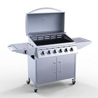 HEATSURE Stainless Steel 6 Burner Gas Grill BBQ + 1 Side Burner G9206A