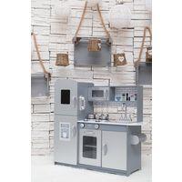 GALACTICA Wooden Pretend Play Kitchen WW-PK-04 Grey