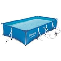 "BestWay Steel Pro Frame Swimming Pool Set Rectangular 13'1"" x 6'11"" x 32"" 56424"