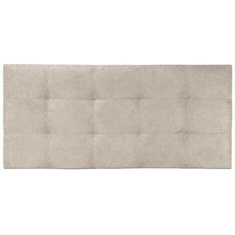 Cabecero de cama Tapizado acolchado de dormitorio con capitoné modelo Tablet en Tela Antimanchas Essence Crudo 91 x 70 cm para camas de 80 ó 90