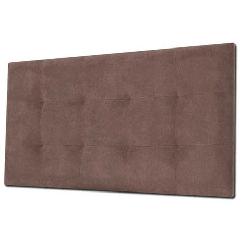 Cabecero de cama Tapizado acolchado de dormitorio con capitoné modelo Tablet en Tela Antimanchas Essence Wengué 91 x 70 cm para camas de 80 ó 90