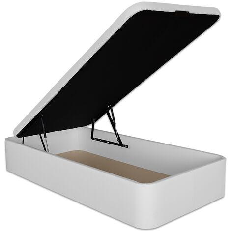 Canapé Abatible Serena Gran Capacidad Tapizado en Polipiel Blanco 90 x 190 cm