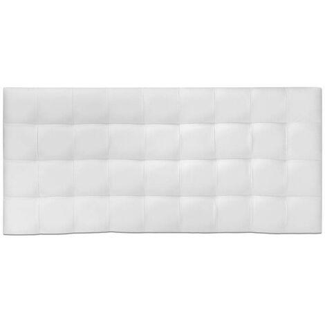 Ventadecolchones - Cabecero Modelo Cube Tapizado en Polipiel Blanca medida 121 x 70 cm (Para cama 105 ó 120 cm) - Blanco