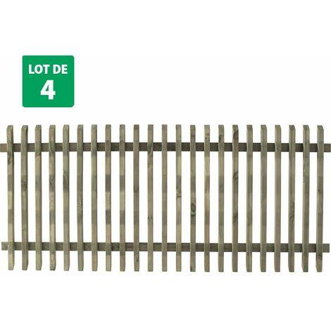 Lot de 4 clôtures 180 cm x 80 cm - PIKA