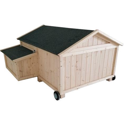 Forest Style-Poulailler mobile simple CASSIE – 2 à 4 poules - 1,5m²