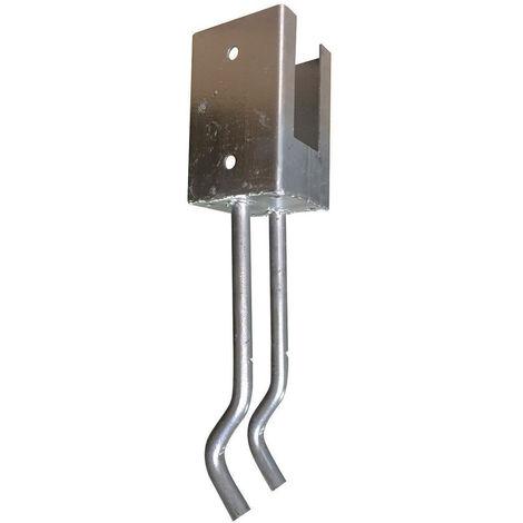 pied-support à sceller-profondeur 35cm- ACIER galvanisé- pour poteau carré 9x9cm