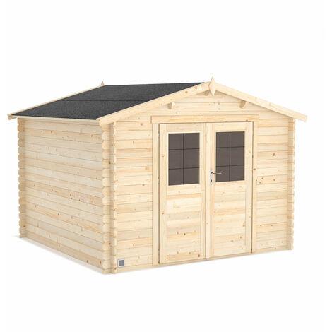 L'abri de jardin en bois brut Volta, 8,9 m2 de stockage