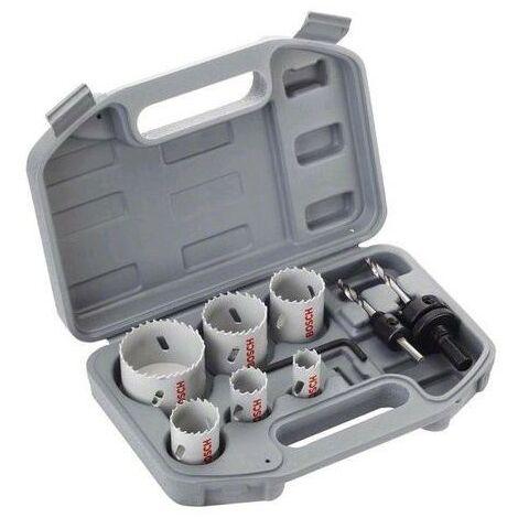 Caja BOSCH: 6 sierras de corona + 2 adaptadores + 1 llave Allen - 2608580868