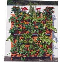 Giardino Verticale 22 Vasi 100x26x60cm In Polietilene Vanossi Lorto Di Giulio Pietra Serena