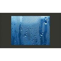 Fotomurale - Gocce Dacqua Su Un Vetro Azzurro 250x193cm Carta Da Parato Erroi