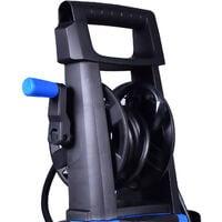 BOUDECH - ADVANCED 2500 - Laveuse électrique haute pression 2500W Max 180Bar 500L/h avec enrouleur de tuyau haute pression 5MT, fonction détergent et accessoire de nettoyage des sols.