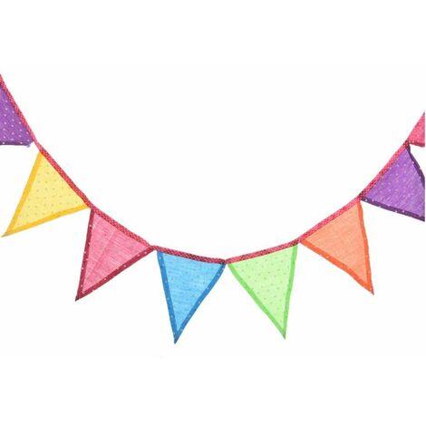 Bandierine colorate con pois 185 cm