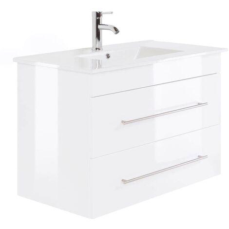 Mueble de baño Infinity 900 Blanco brillante