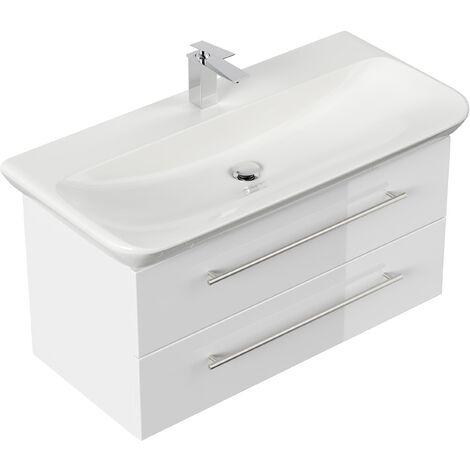 Mueble de baño con Lavabo Geberit MyDay 100 cm blanco brillante