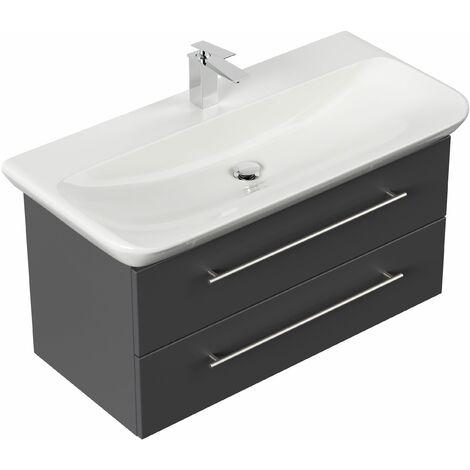 Mueble de baño con Lavabo Geberit MyDay 100 cm Antracita satinado