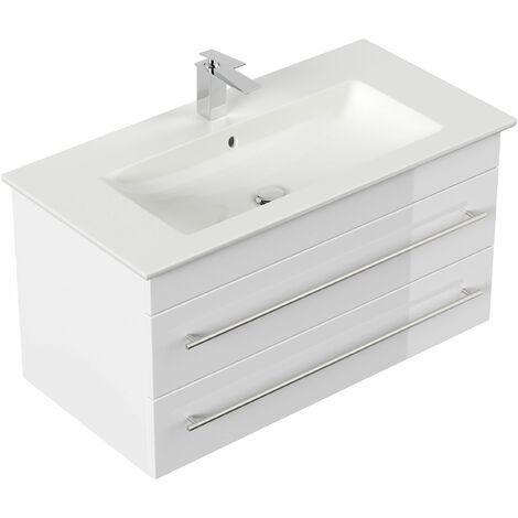 Mueble de baño con Lavabo Villeroy & Boch Venticello 100 cm blanco brillante