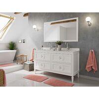 Set premontado Lavanda 150 2P.estilo rústico blanca madera barnizada cuarzo lav.