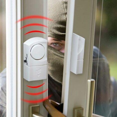 Détecteur Alarme d'Ouverture de Porte et Fenêtre Sans Fil