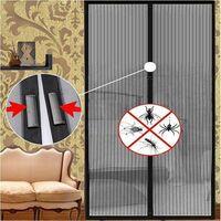 Moustiquaire magnétique anti-insectes pour porte avec fermeture aimantée