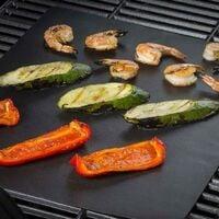 GRILL MAT : Feuille de Cuisson Antiadhésive et Réutilisable pour Barbecue et Four