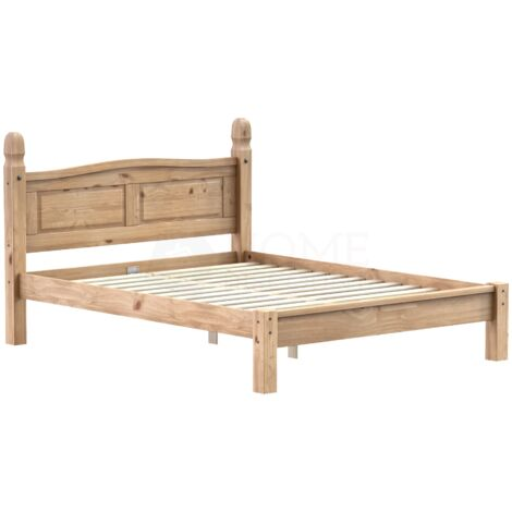 Corona King Size Bed, Low Foot End