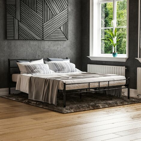 Dorset Bed 5ft King Size, Black