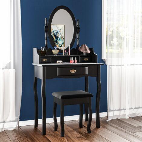 Nishano 3 Drawer Dressing Table, Black, Large