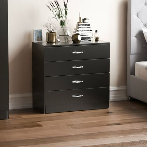 Riano 4 Drawer Chest, Black