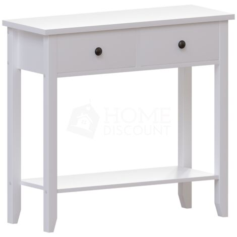 Windsor 2 Drawer Console Table, White
