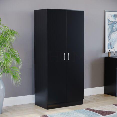 Riano 2 Door Wardrobe, Black