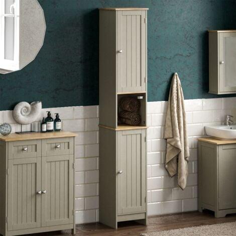 Priano 2 Door Tall Cabinet, Grey