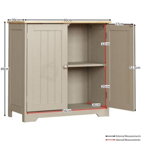 Priano 2 Door Under Sink Cabinet Grey, Under The Sink Cabinet