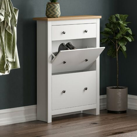 Arlington Shoe Cabinet, White