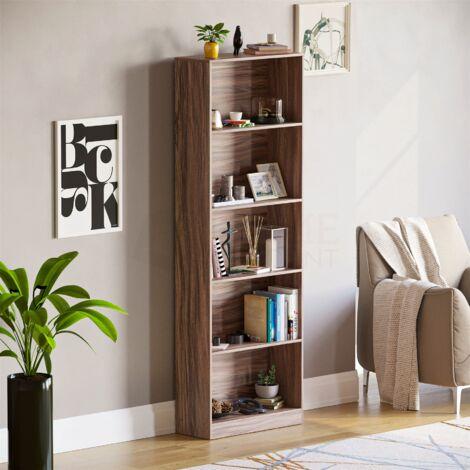 Cambridge 5 Tier Extra Large Bookcase, Walnut