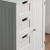Priano 4 Drawer 1 Door Freestanding Unit
