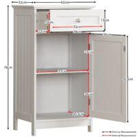 Priano 1 Door 1 Drawer Freestanding Cabinet