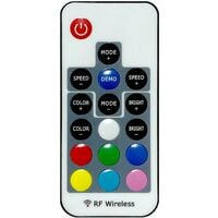 Azura 1 Door LED Sideboard, White