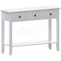 Windsor 3 Drawer Console Table, White