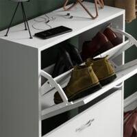 2 Drawer Shoe Cabinet, White