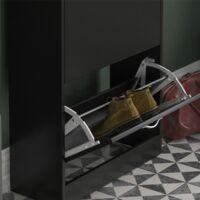 2 Drawer Shoe Cabinet, Black