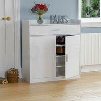 Dalby 2 Door 1 Drawer Shoe Cabinet, White