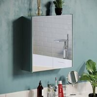 Tiano Stainless Steel Mirrored Double Cabinet