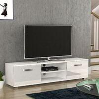Cosmo 2 Door TV Unit, 160cm, White