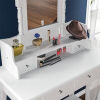Nishano 4 Drawer Dressing Table, White