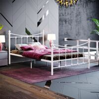 Paris Small Double Metal Bed, White