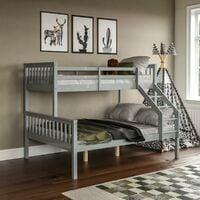 Milan Triple Sleeper Bunk Bed, Grey